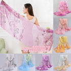 Fashion Women Long'Soft Wrap Lady Shawl Silk Chiffon Scarf Printed Stole Scarves