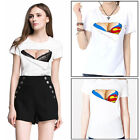 3D Print Women's Chest Men's T-shirt Street Fashion Casual Crew Tee Top