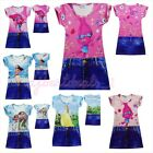 Girls/Toddlers 3DCartoon Trolls, Moana,Belle Simulation Jean Summer Casual Dress image