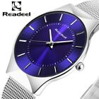 Readeel Mens Watches Top Brand Luxury Men Stainless Steel Wristwatches Ultra Thi