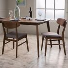 Lucille Fabric/ Wood Finish Dining Chair (Set of 2)