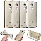 Shockproof Soft TPU Silicone Rubber Clear Case Cover For Huawei Ascend / Honor