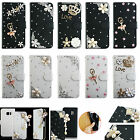 For Huawei Sony Vivo Leather Case Crystal Rhinestone Diamond Wallet Cover TY