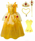 Romy's Collection Princess Belle Yellow Party Dress Costume