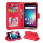 For BLU Dash XL (V0070UU) Leather FlipStand CreditCard Slot Wallet Phone Case
