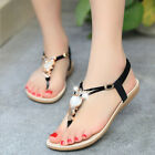 Fashion Women Summer Bohemia Slippers Flip Flops Flat Sandals Beach Thong Shoes