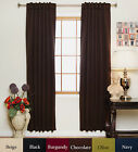 RETURNED ITEM! Rod Pocket Thermal Insulated Blackout Curtain 120Inch Length Pair