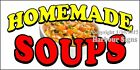 Choose Your Size) Homemade Soups DECAL Food Truck Vinyl Sign Concession