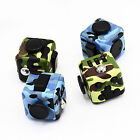 Camo Fiddle Fidget Cube Dice Kids EDU Toy Adult Anxiety Stress Relief & Gift Box
