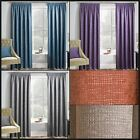 Mojo Bright Thermal Fully Lined Curtains Block Out Ready Made Pair Pencil Pleat