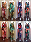 New Latex Boho Ladies Girls Womens Multicoloured Romper Playsuits Jumpsuits