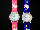 Kid CRAZY Kittens Cats Teaching Teaching Dial Soft Band - PINK or BLUE Free Post