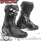 TCX RT RACE BLACK MOTORCYCLE MOTORBIKE BIKE SPORTS BOOTS REINFORCED SOLE