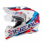 O Neal Sierra 2 Adventure Motocross Helmet Blue Off Road Dual Sport Motorcycle