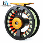 Maxcatch 3/4WT 5/6WT 7/8WT Aluminum Fly Fishing Reel with Line Fully Loaded