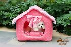 Brand New Kojima Pink Princess Soft Warm Pet House Bed Kennel for Dog Puppy Cat