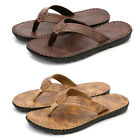 Men Outdoor Flip Flops Beach Slippers Sandals Flat Shoes Faux Leather Vacation