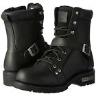 9146 Ride Tecs Men's 8'' Zipper Lace Leather Motorcycle, Bikers Boot