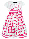 New Girls Kids Ex Branded Pink Polka Dot Dress With Lace Shrug 2 3 4 5 6 Years