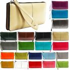 NEW LADIES FAUX LEATHER WRIST STRAP COIN POCKET CARD HOLDERS PURSE WALLET