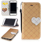 Lanyard PU Leather Magnetic Flip Stand Card Wallet Case Cove For Various Phone