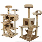 Cat Tree Tower Condo Furniture Scratch Post Kitty Pet House Play Beige Paws BB