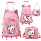 Kid's Backpack With 6 Wheels Girl's School Bag Fashion Luggage Shoulder bag NEW