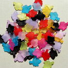 150 & 300  MULTICOLOUR LUCID FROSTED ACRYLIC MAPLE FLOWER CHARM PENDANT 17x13mm