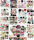 Photo Booth Props Selfie Kits Photography Wedding Christmas Hen Party Funny Face