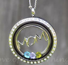 Mom Necklace Gift for Mother's Day Jewelry Stainless Steel Floating Locket Chain