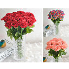 Artificial Silk Fake Rose Flower Wedding Bouquet Bridal Party Home Table Decor