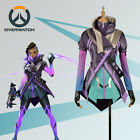 Game OW Overwatch Hacker Sombra Nanosuit Cosplay Costume Jacket Custom Size