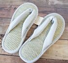 SALE!MUJI Tatami Rush Igusa grass Cushion Zori Sandals Slippers L/XL Summer Cool