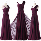 Long Chiffon Wedding Formal Evening Party Bridesmaid Ball Gown Prom Dress 10 12+