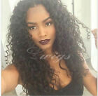 Glueless Brazilian Human Hair curly Lace Front wig Full W...