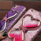 Glitter Double Love quicksand Bling Bow Holder TPU Soft Case Cover For iPhone