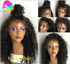 Hot Glueless Brazilian Human Hair curly Lace Front Full W...