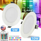 5W/10W RGB CREE LED Recessed Ceiling Light Panel Down Light Lamp +Remote Control