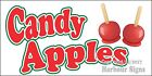 (Choose Your Size) Candy Apples DECAL Food Truck Van lSign Restaurant Concession