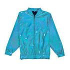 80s Style Holographic Foil Laser Effect Jacket - Turquoise - Various Sizes