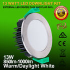 10 X 13W or 10W DIMMABLE LED DOWNLIGHT KIT; WARM OR COOL WHITE - BULK BUY