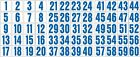2 INCH CONSECUTIVE NUMBER DECALS / STICKERS 1-60