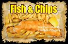 DECAL (Choose Your Size) Fish & Chips Food Sticker Restaurant Concession