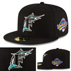 New Era MLB Florida Marlins Classic Black Fitted Hat World Series Side Patch Cap on Ebay