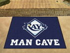 Tampa Bay Rays Man Cave Area Rug Choose from 4 Sizes