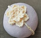 CROCHETED HEADBAND BABY GIRL hair band knit reborn doll photoprop gold sequin
