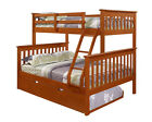 TWIN OVER FULL BUNK BED W/ TRUNDLE AND/OR TENT OPTION - ESPRESSO