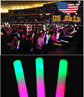 12~300PCS LED Light Up Foam Sticks Wands DJ Flashing Glow Stick Concert supplies