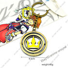 Kingdom Hearts Turn Spin Pendant Neclace Keychain Anime Game Metal Cosplay Gift