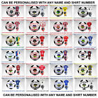 Personalised Football Pillow Case Cushion Bedding Linen Name & Number On Shirt